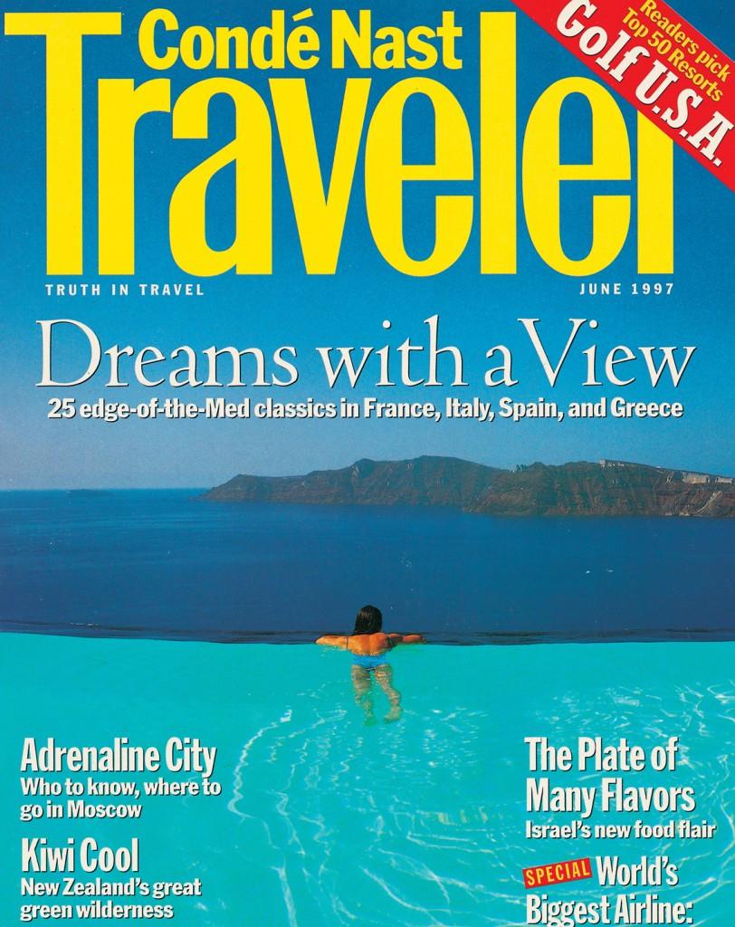 Perivolas Infinity Pool on the Cover of Traveler