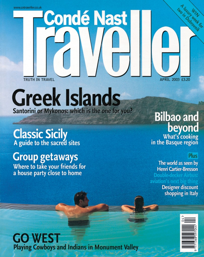 Perivolas Infinity Pool on the Cover of Traveller